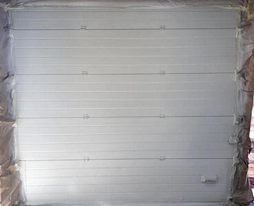 white roller shutter after