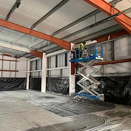 warehouse spraying before