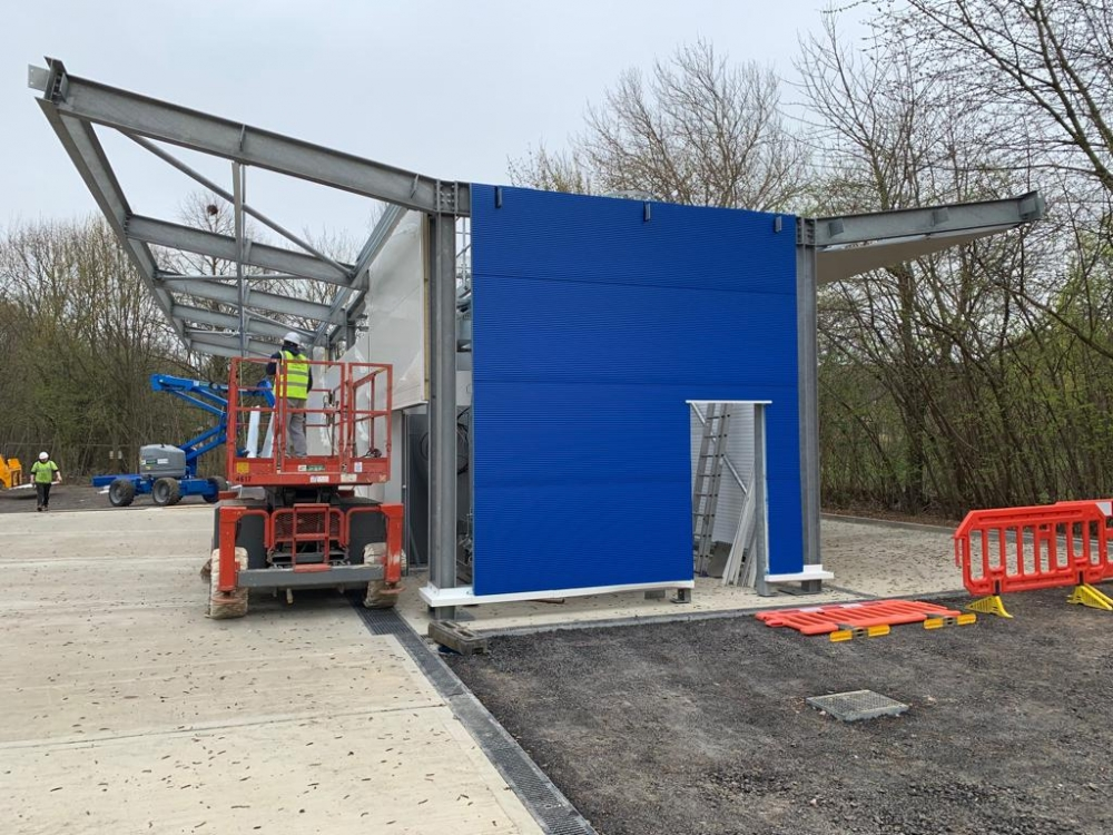 Tesco Petrol Station Panel Spraying