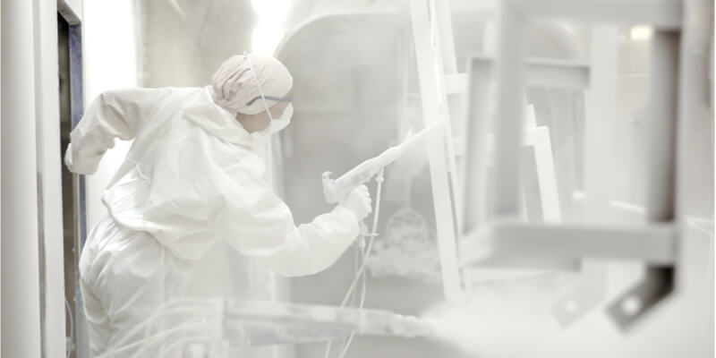 man powder coating galvanized steel