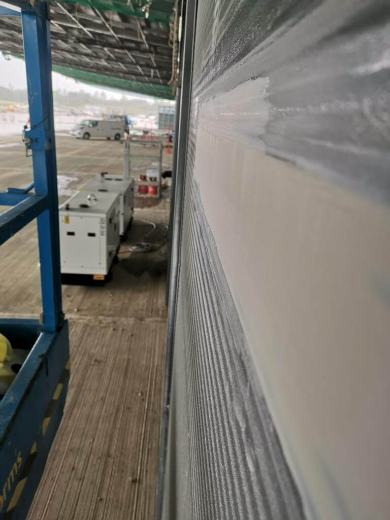 smooth finish cladding repair