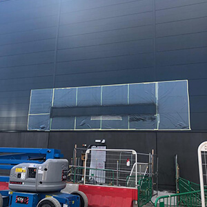 Black Cladding Panel After Repair