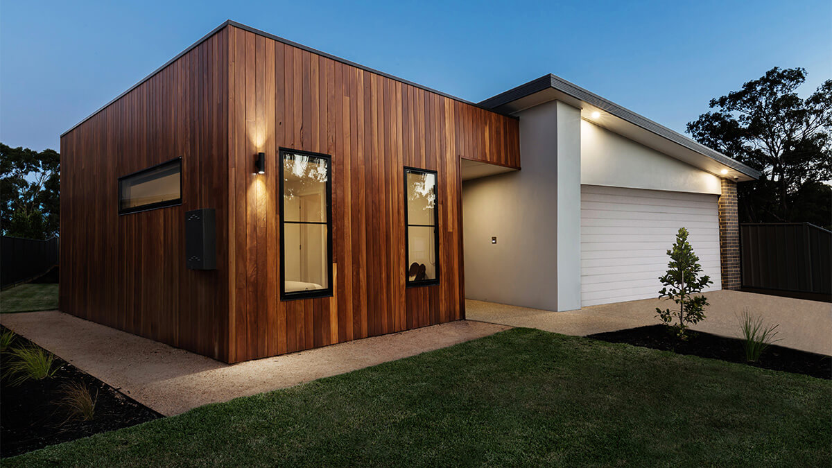 Home with cladding