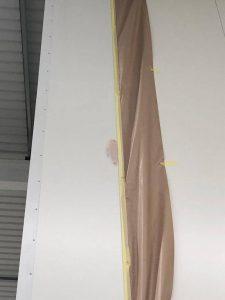 close up of cladding damage to internal cladding