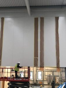 hemel panel damage being prepped