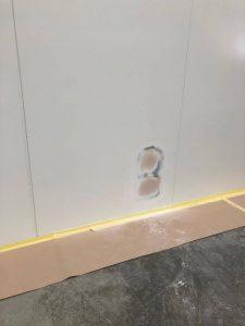 lower right cladding panel repair