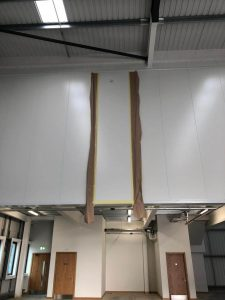 white cladding with filler in it