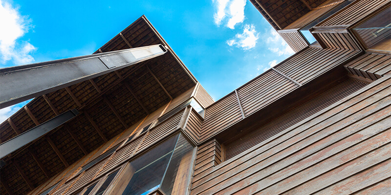 Timber Cladding On Building