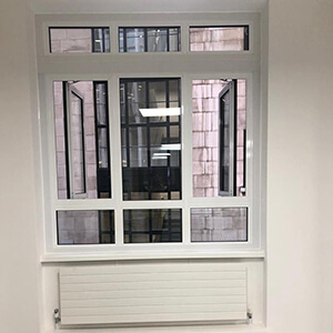 white windows before