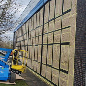 Curtain Walling Before Spraying