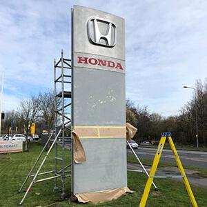 Honda Totem Before Spraying