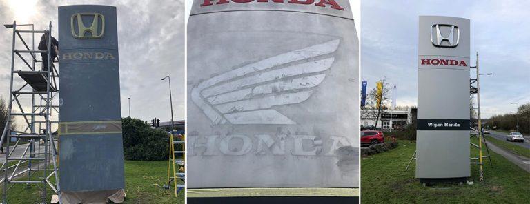 Honda Dealership, Totem Repair & Respray – Wigan