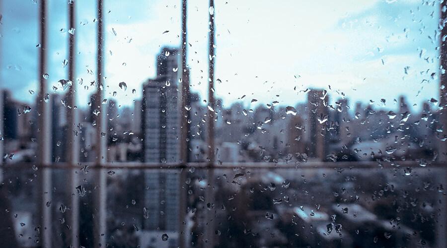 Rainy Office Window