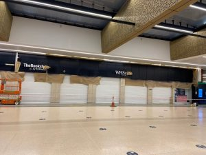 Sprayed panels in Leeds