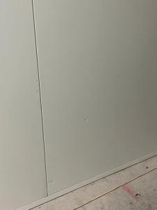 White panel wall