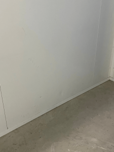 dents and some marks on white panels