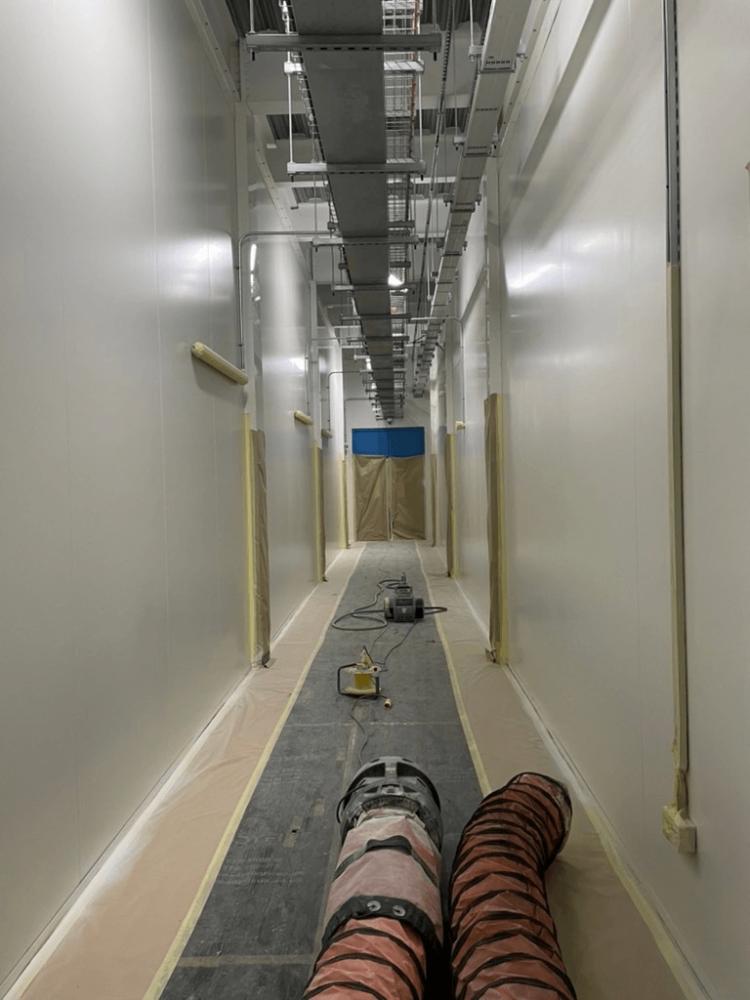 preparing white panel walls