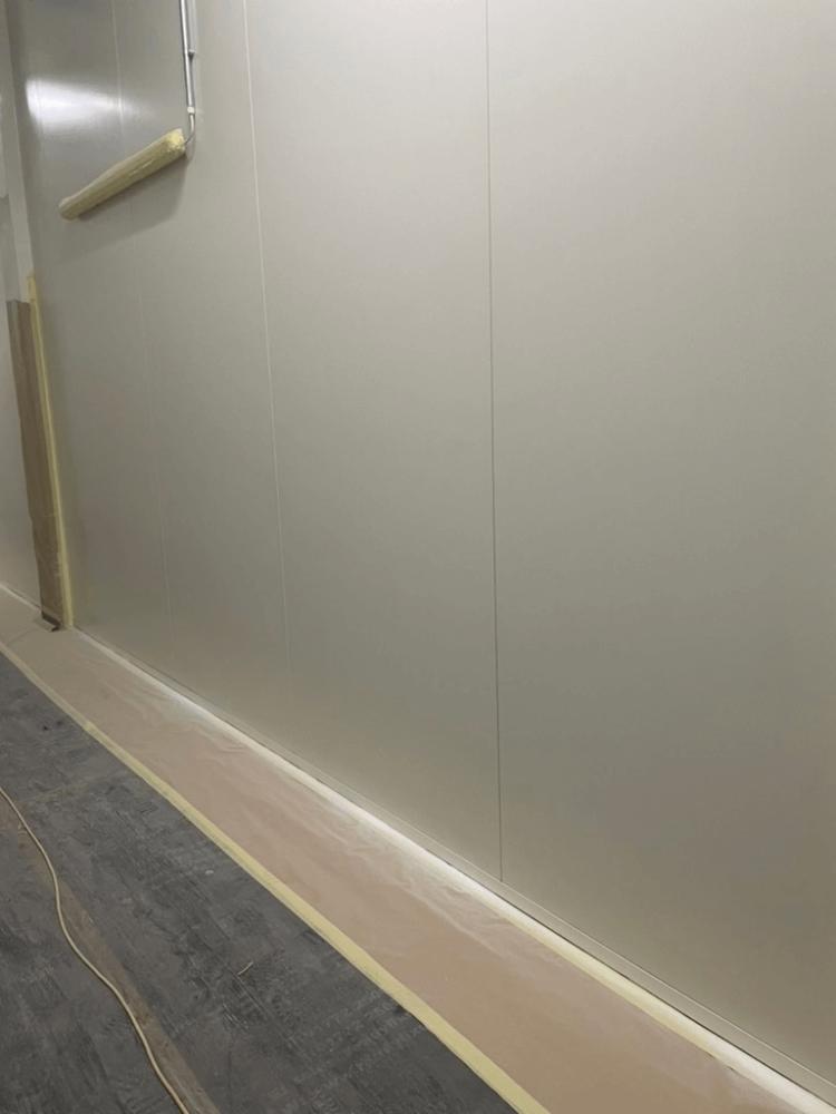 fresh white panel walls