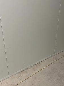 White panel before repair