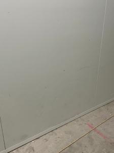 Marks on white panel