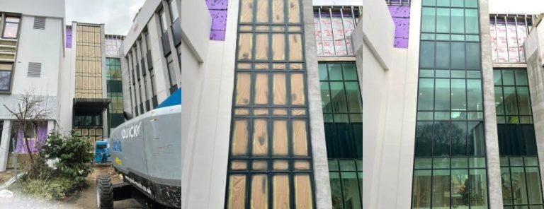 On Site Paint Spraying – Twickenham