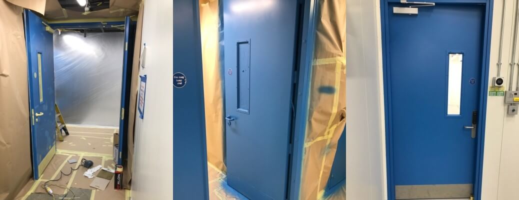 Data Centre Internal Door Spraying – Welwyn Garden City