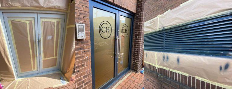 Curtain Walling Respray – Crescent Hall, Luton